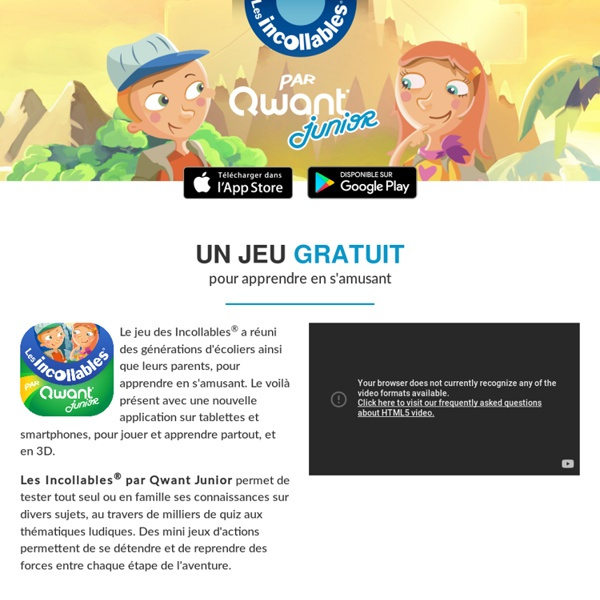 Les Incollables (Qwant Junior) - tester sa connaissance d'Internet