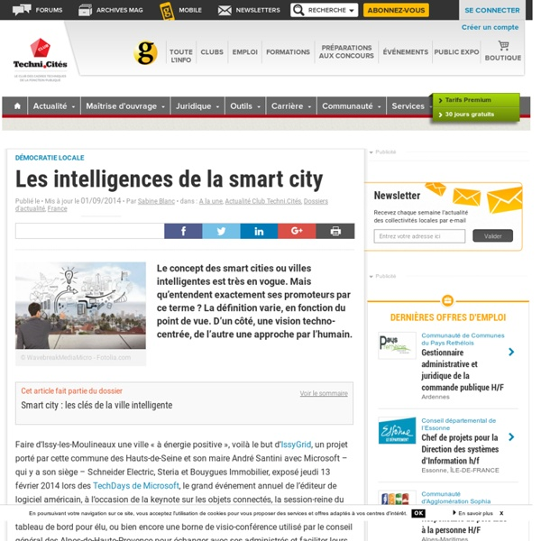 Les intelligences de la smart city