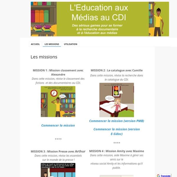 Les missions - L'Education aux Médias au CDI