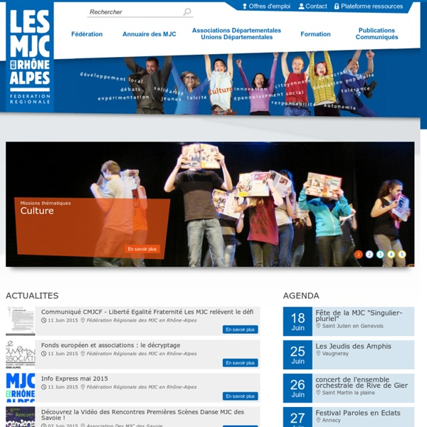 Les MJC en Rhône-Alpes - Accueil
