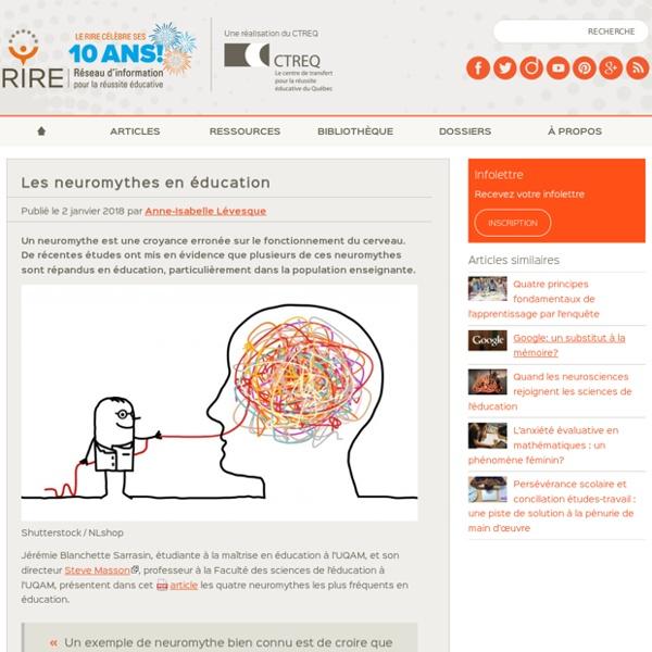 Les neuromythes en éducation