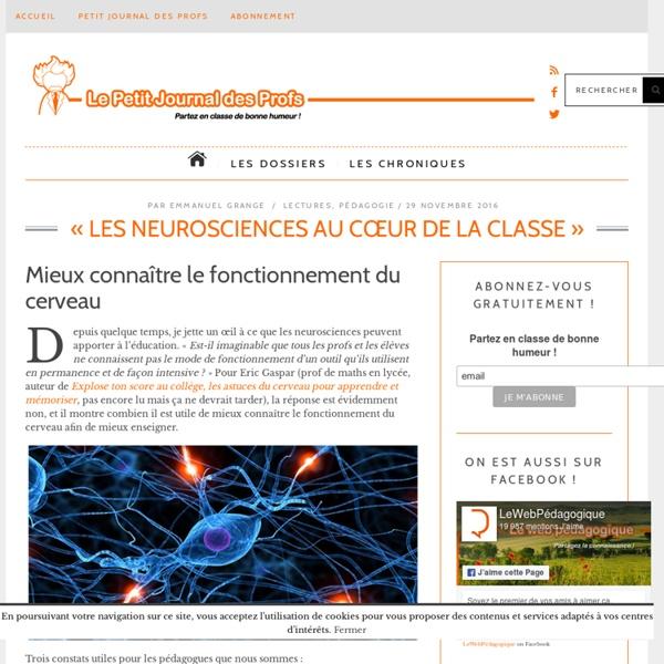 « Les neurosciences au cœur de la classe »