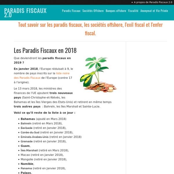 Les meilleurs Paradis Fiscaux en 2014 - Paradis Fiscaux 2.0