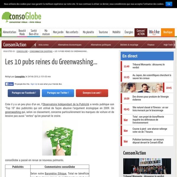 Vidéo : Les 10 pubs reines du Greenwashing…