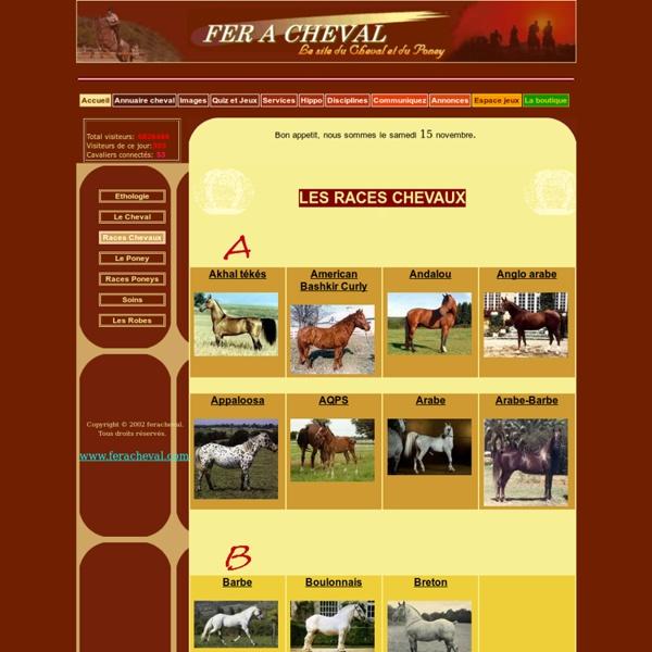 Fer a Chval : races de Poneys et de Chevaux