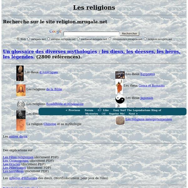 Les religions et mythologies