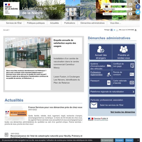 Le portail des services de l'Etat dans la Nièvre: La Nièvre - Histoire