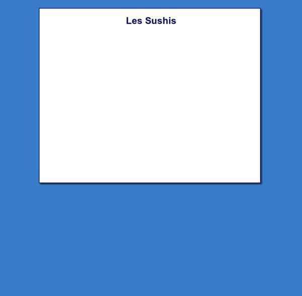 Les Sushis : jeu mathématique