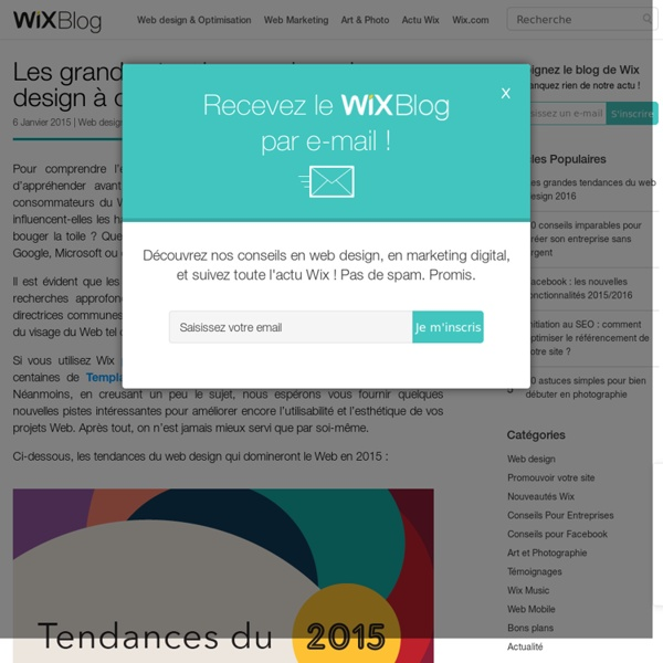Les tendances du web design de 2015