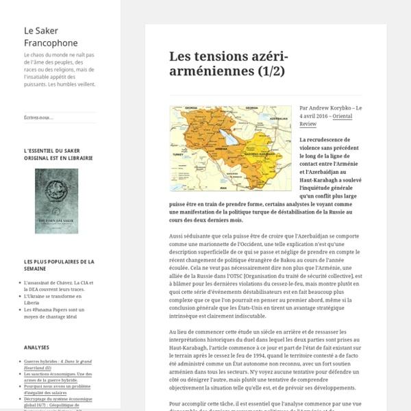 Les tensions azéri-arméniennes (1/2)