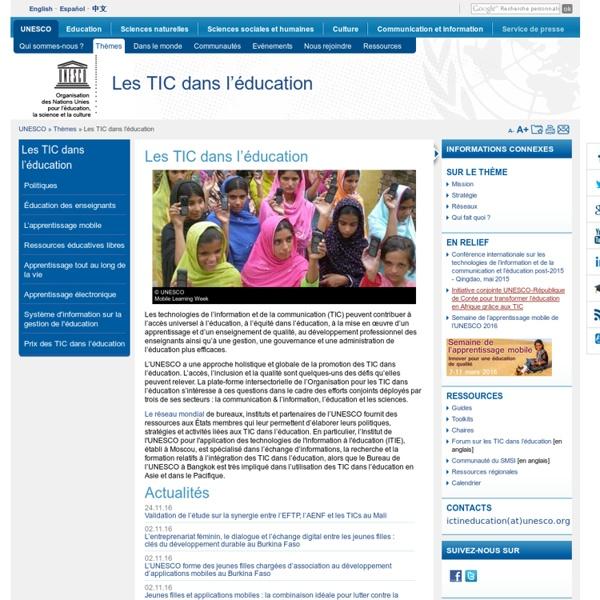 Les TIC dans l'éducation