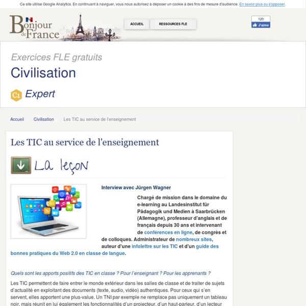 Les TIC au service de l'enseignement - Expert - Civilisation Française
