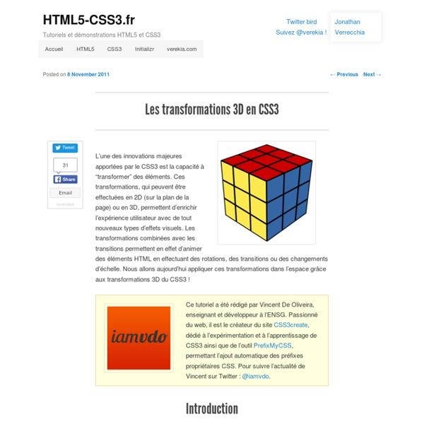 Les transformations 3D en CSS3