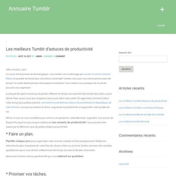 Les tumblr francophones