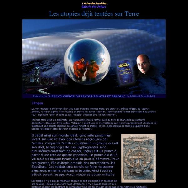 Les utopies déjà tentées sur Terre