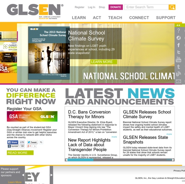 Gay, Lesbian and Straight Education Network: Home