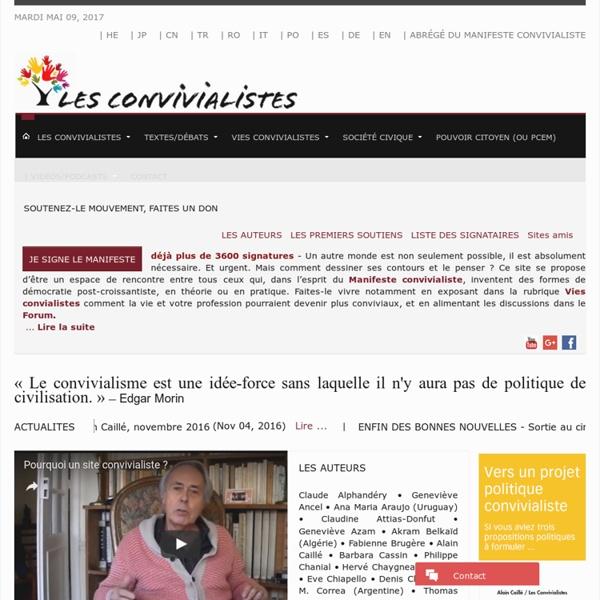 LesConvivialistes - Accueil