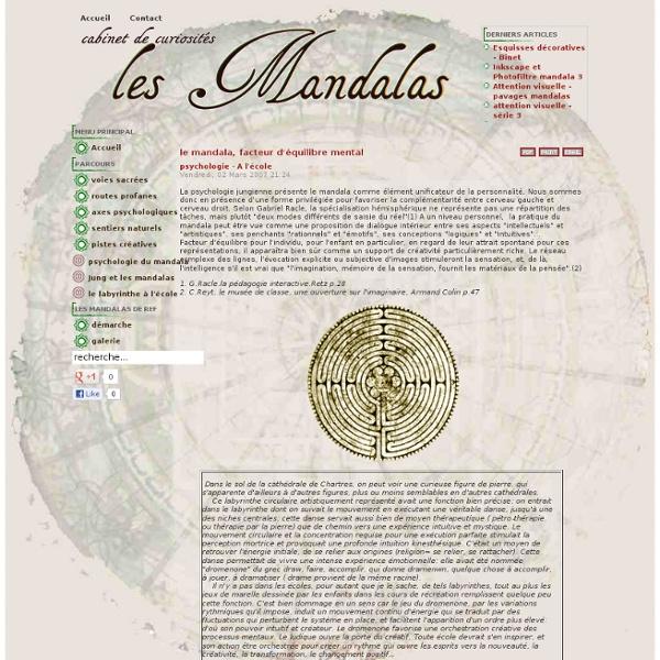 Le mandala, facteur d'équilibre mental - labyrinthe ecole - lesmandalas