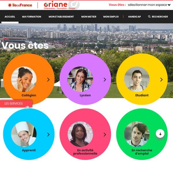Lesmétiers.net : Fiches métiers - Diplômes - Formations - Orientation en Ile-de-France - Accueil