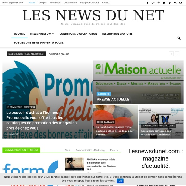 Communiqués de presse, actualités sur Les News du Net