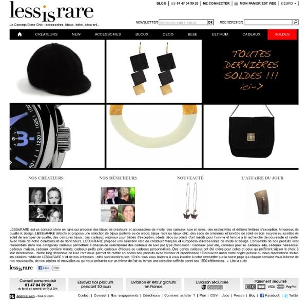 Lessisrare : Concept Store de bijoux de créateur et accessoires de mode