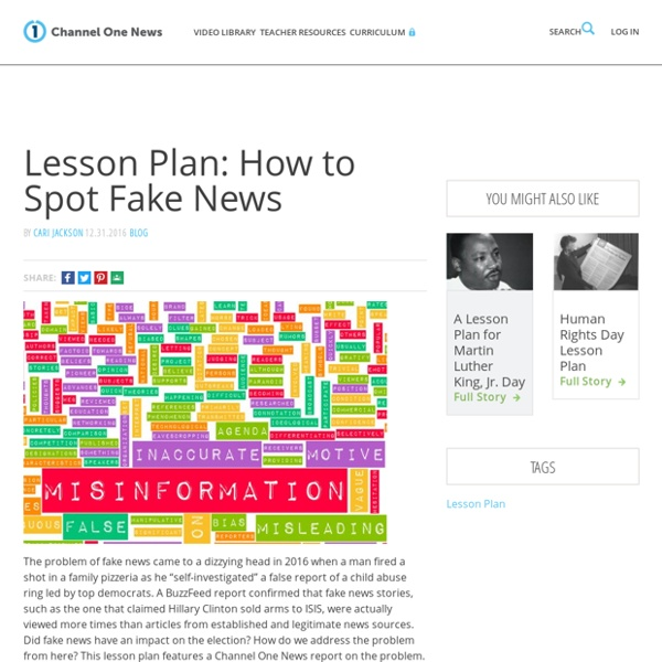 Lesson Plan: How to Spot Fake News