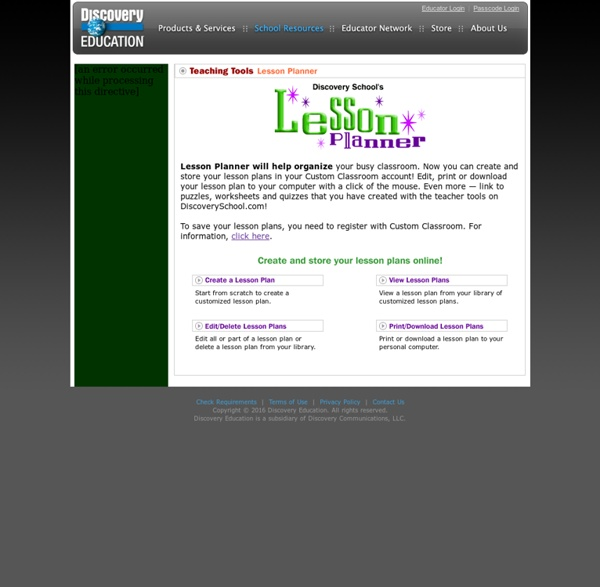Lesson Planner - Discovery School.com