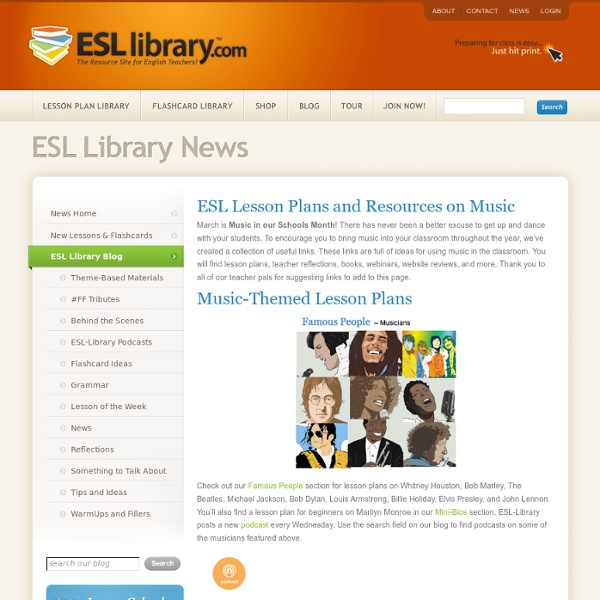ESL Lesson Plans and Resources on Music7