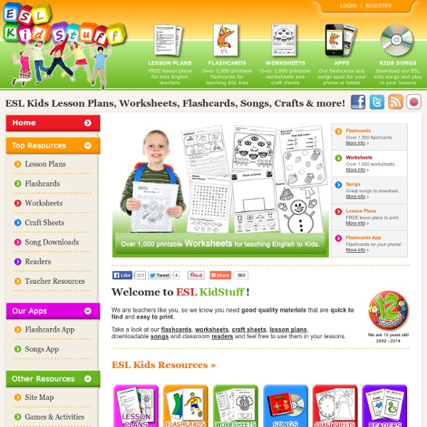 ESL Kids worksheets, flashcards, songs and games