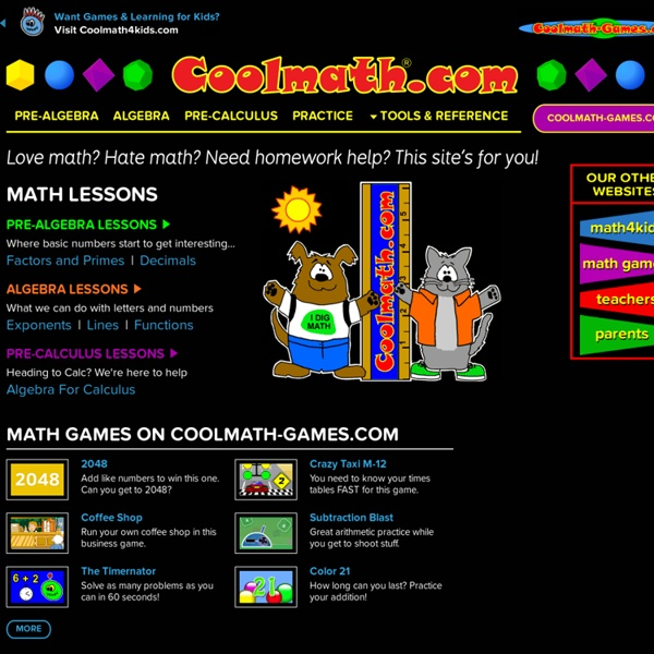 Cool Math Free Online Lessons S Fun Activities Pre Algebra Precalculus