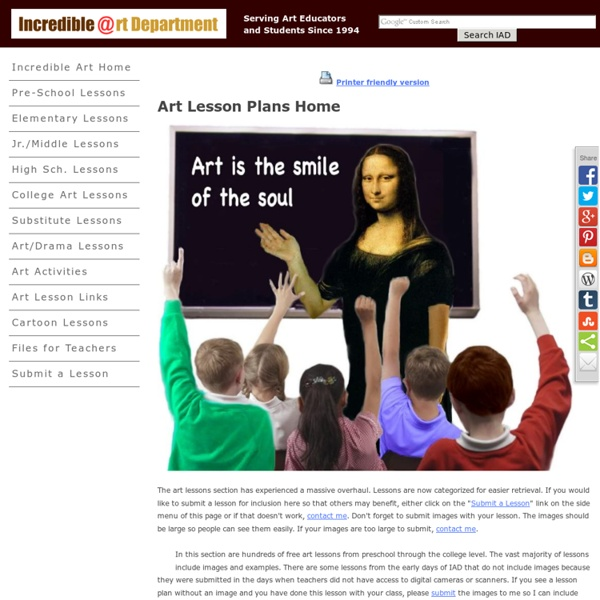 Art Lessons and Lesson Plans for K-12 and College