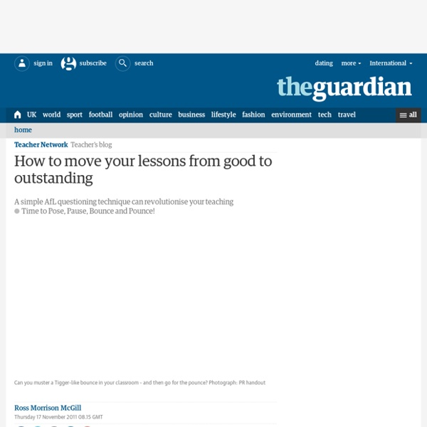 How to move your lessons from good to outstanding