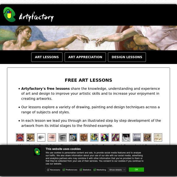Free art lessons - teach yourself how to draw, paint and design