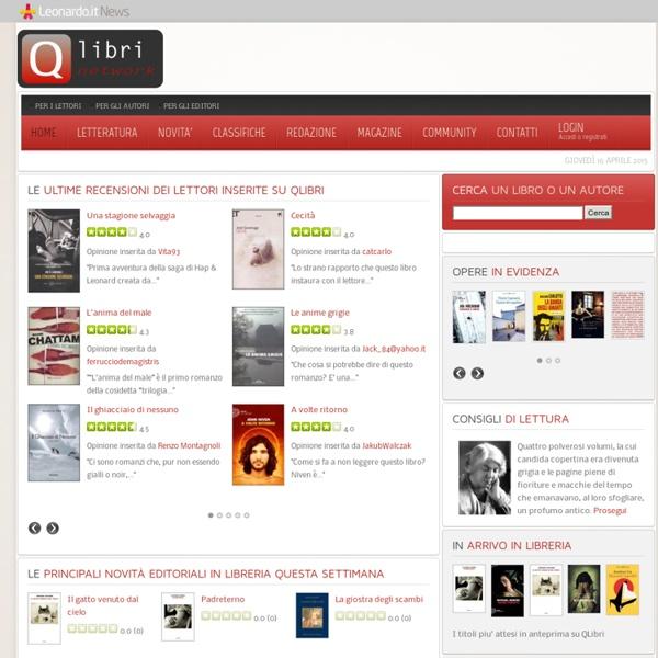 QLibri, il portale dei libri per lettori, autori, editori - Recensioni di QLibri