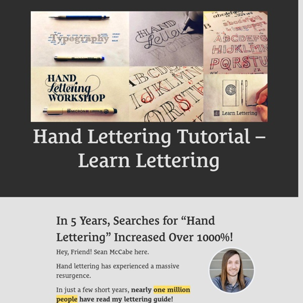 So you want to learn hand lettering?