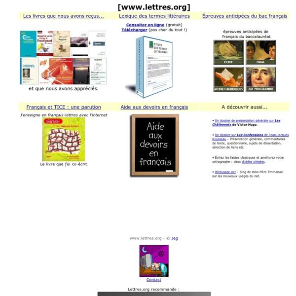 Lettres.org - Étude et enseignement du français