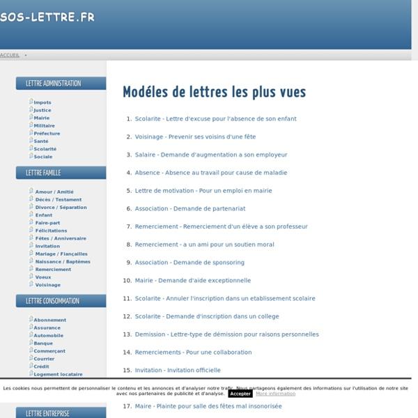 Modèle lettre type Entreprise Association - SOS-Lettre.fr