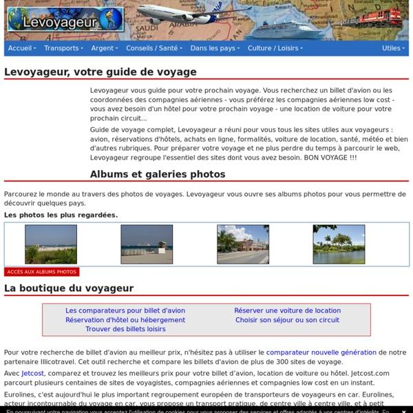 Le voyageur - Guide de voyage avec avions, hôtels pour votre prochain voyage