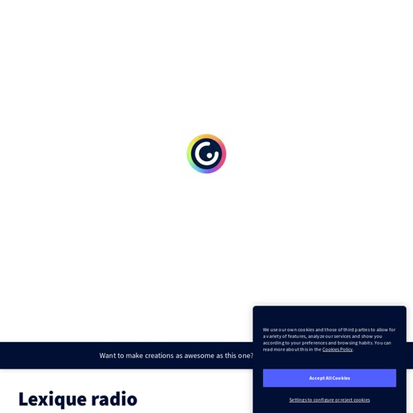 Lexique radio by Vincent Patigniez on Genially