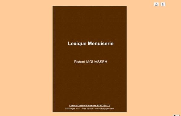 Lexique Menuiserie