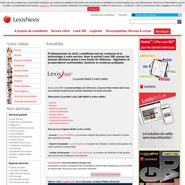 LexisNexis - Presse et librairie juridique, logiciels