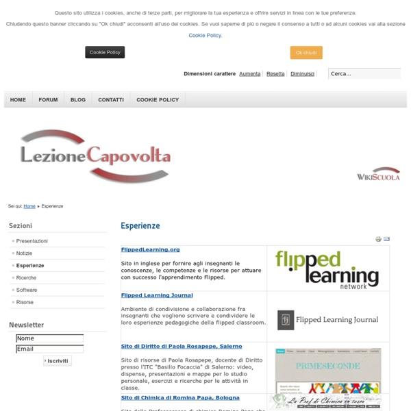 Lezione Capovolta - Esperienze