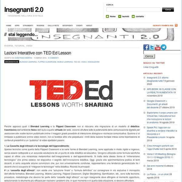 Lezioni Interattive con TED Ed Lesson