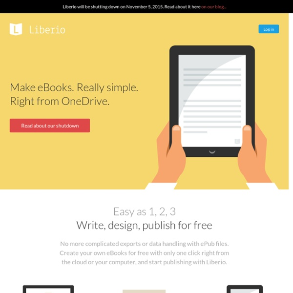 Simple eBook creation and publishing.