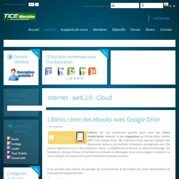 Liberio, créer des ebooks avec Google Drive