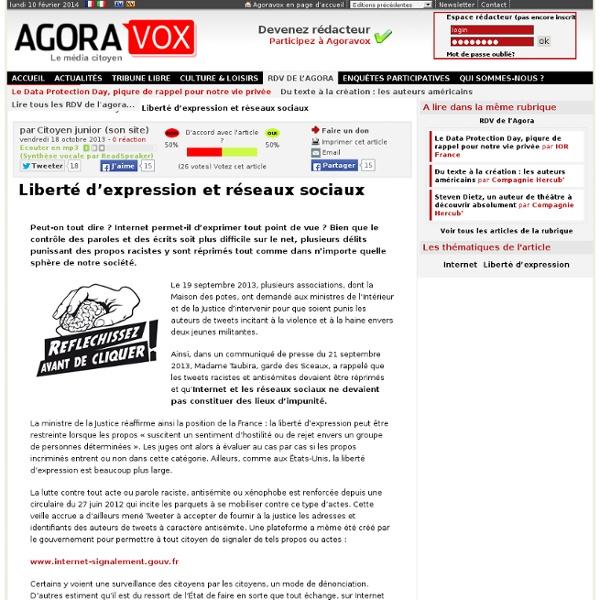 Liberté d'expression et réseaux sociaux
