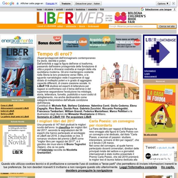 Http://www.liberweb.it - Il mondo dell'editoria per bambini e ragazzi, in rete