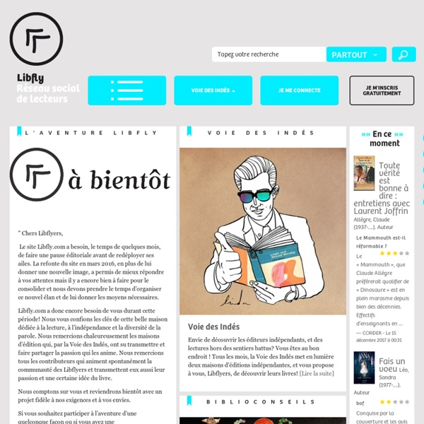 Livres ! Libfly, la bibliothèque en ligne - Romans, mangas, BD, albums,essais