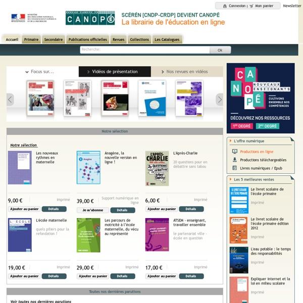 Scérén.com, la librairie en ligne de l'éducation : des ressources pour enseigner - Accueil