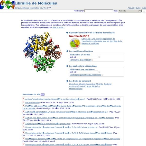 Librairie de Molécules